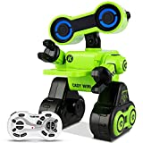 Costzon Robot Toy for Kids, Programmable Interactive RC Robot w/ Remote Control, Educational Intelligent Robot Kit, Touch & Sound Control, Speak, Walk, Dance, Sing, Rechargeable Robotics Gift (Green)