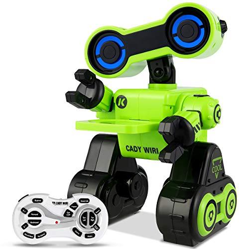 COSTWAY 2.4GHz Ferngesteuerter Roboter, RC Interaktiv Roboter programmierbar, Roboter Spielzeug intelligent mit Musik-, Tanz- und Sprachfunktion (Grün)