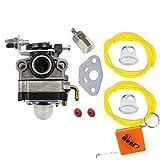 HURI Carburateur et Joint Filtre Pour Honda FG100 GX22 GX25 GX31 GX35 Coupe-bordure Débroussailleuse HHE31C HHT31S UMK431 Remplace 16100-ZM5-803 Walbro WYL-19 WYL-19-1