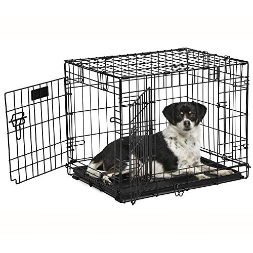 "Midwest Products Co. 24"" Contour DBL Door Dog Crate Basic Crates Dog Supplies Top"