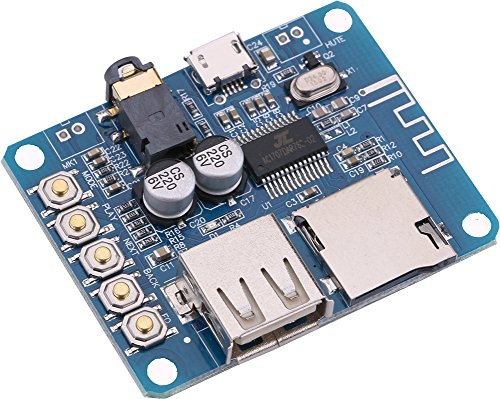 Yeeco MP3 Decoder with Amplifier, Lossless MP3 Decoder Board with Bluetooth Module Dual Channel Wireless MP3 Decoder Player Module DC 5 V Power Supply