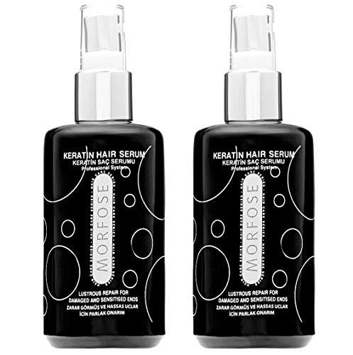 2x Morfose Keratin Haar Serum 75ml Haarpflege Öl Haaröl Trockenes Strapaziertes Haar Glättet gibt Glanz macht die Haare Weich