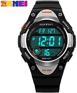 SKMEI Kids Sport Digital Watch Boys Waterproof Wrist Watches with LED Electronic Alarm Stopwatch for Boys Girls