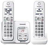 Panasonic KXTGD592W Dect 6.0 2-Handset Landline Telephone