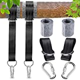 <span class='highlight'><span class='highlight'>BETOY</span></span> Hammock Straps, Swing Hanging Straps Outdoor Hammock Straps Hanging Trees Mounting Kit with 2 Tree Protectors 2 Carabiners, for Outdoor Camping Hammocks and Swings,150cm (Black)