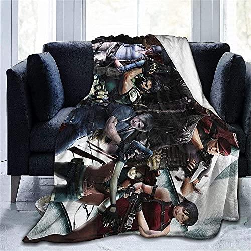 AZWZDM Manta de franela Resident Evil, para niños, ligera y cálida, adecuada para sofá o dormitorio (A2,100 x 130 cm)
