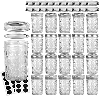Mason Jars 8OZ, VERONES 8 OZ Canning Jars Jelly Jars With Regular Lids and Bands, Ideal for Jam, Honey, Wedding Favors, Sh...