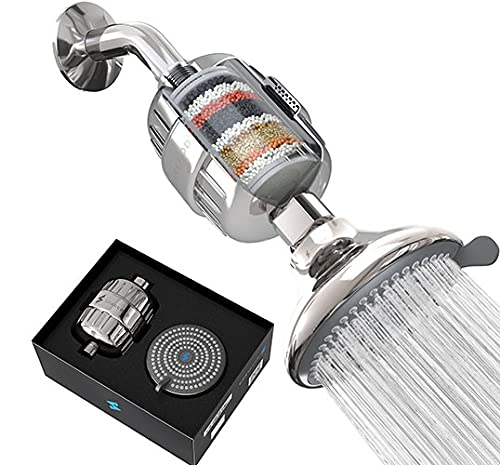SparkPod Filter Shower Head - High-Pressure Water Filtration for Chlorine & Harmful Substances (Reduces Eczema & Dandruff) - Adjustable & Easy-to-Install (Chrome)