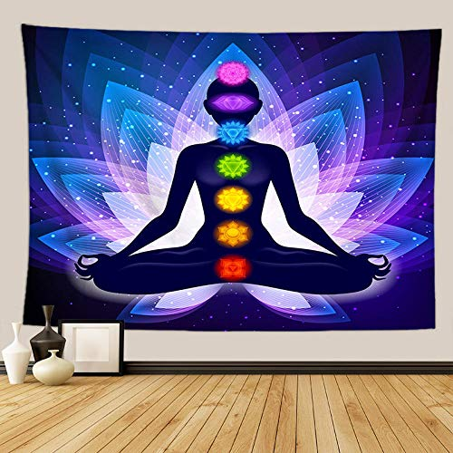 BBAGG Tapisserie Wandbehang Wandtuch Chakra Wandteppiche Psychedelic Yoga Teppich Home Decoration-FGT6959_95 * 73 cm