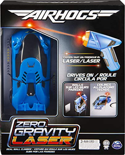 Air Hogs 6054529 - Zero Gravity Laser, lasergeführtes Real Wall-Climbing Race Car, blau