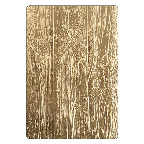 Sizzix Prägeschablone 662718, Holzeffekt by Tim Holtz, eine Größe, Holz Ordner, One Size