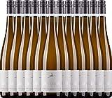 VINELLO 12er Weinpaket Weißwein - Grauer Burgunder eins zu eins Kabinett 2020 - A. Diehl mit einem VINELLO.weinausgießer | veganer Weißwein | deutscher Sommerwein aus der Pfalz | 12 x 0,75 Liter