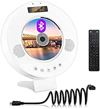 Jinhoo DVD CD Player with Bluetooth, Wall Mountable DVD CD Music Player with Built-in HiFi Speakers, HDMI AV Output for TV, Home Audio Boombox with Remote Control Support FM Radio USB Input