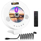 DVD CD Player with Bluetooth, Wall Mountable DVD CD Music Player with Built-in HiFi Speakers, HDMI AV Output for TV, Home Audio Boombox with Remote Control Support FM Radio USB Input