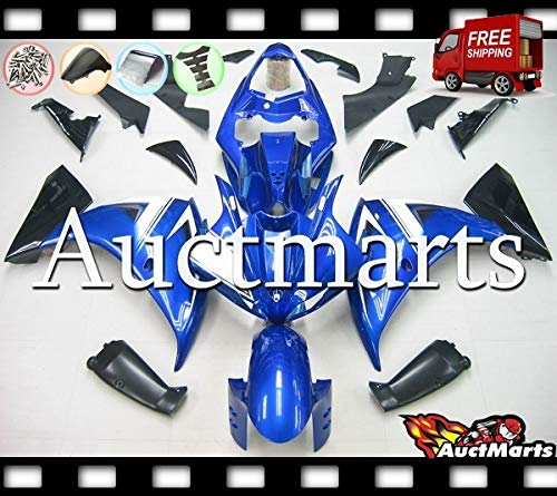 Auctmarts Injection Fairing Kit ABS Plastics Bodywork with for Honda VFR800 Interceptor 2002 2003 2004 2005 2006 2007 2008 2009 2010 2011 2012 Red Black Honda Wing P//N:1x5
