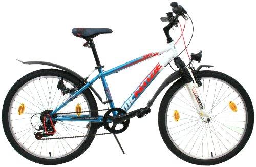 MIFA All Terrain Jugend Bike 6 Gang, blau/weiß, 34 cm, 24 Zoll, MA050-2401
