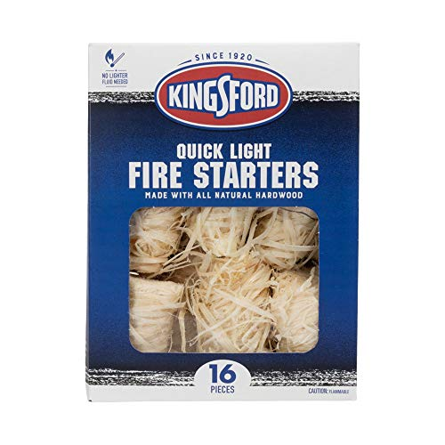 Kingsford Grilling BB11417 Fire Starters, 16 Count, Natural