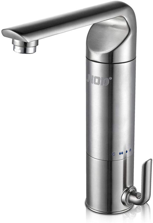 Qpw Wasserhahn Wasserhahn für warmes und kaltes 3KW Edelstahl Wasserhahn elektrische Küchenarmatur