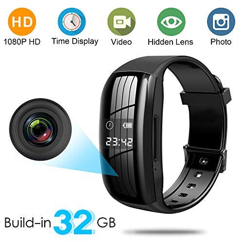 Binrrio 1080P HD Camera Video Recorder Build-in 32GB Wearable Full HD Camera Portable Smart Bracelet Camcorder for Video Photo Recording