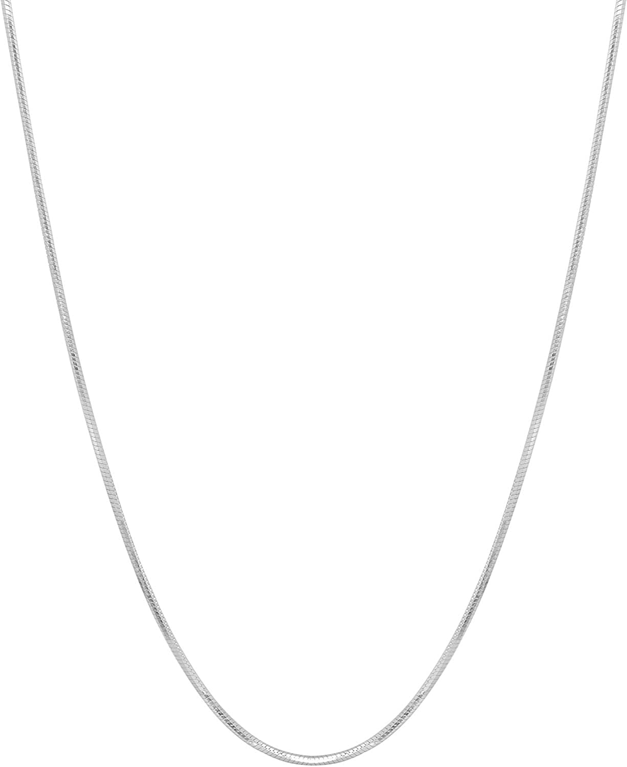 Authentic Solid Sterling Silver Sale Special Price 8 Snake San Diego Mall 1MM Chain Necklace Sided