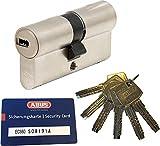 ABUS EC660 Profil-Doppelzylinder Länge (a/b) 50/60mm (c=110mm) mit 6 Schlüssel, mit Sicherungskarte