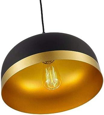 KALRI Modern Indoor Lighting Saturn Gold & Black Pendant Light Kitchen Island Chandelier Ceiling Hanging Light Fixtures with