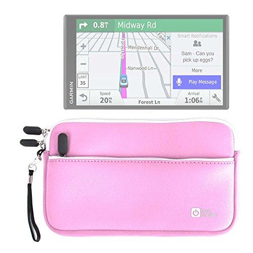 DURAGADGET Funda De Neopreno Rosa para GPS EasySMX 84H-3 7' / Carchet 7' IT00299 - con Bolsillo Exterior + Correa De Mano