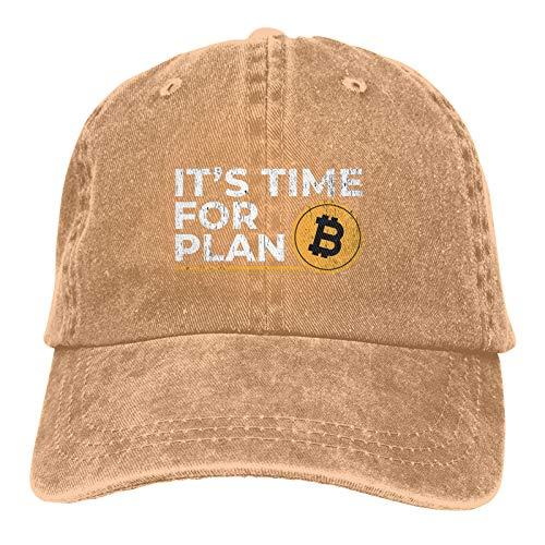 Jopath Plan B - Time for Plan Bitcoin-3 - Gorra de béisbol ajustable unisex lavable