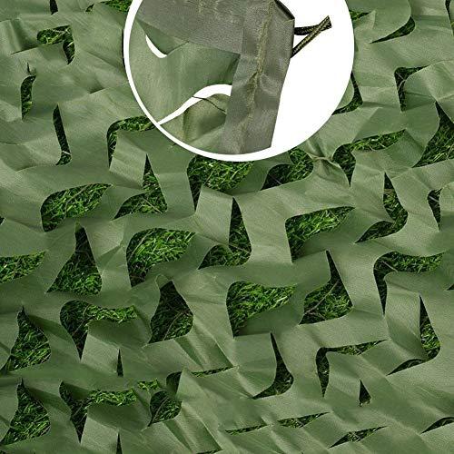 WEICAO Red de Camuflaje para Sombraje para Jardin Cubierta Militar Verde, Protección Solar Lona Bosque Tienda Campaña Caza Tiro Techo Dormitorio, Restaurante Fiesta Cumpleaños del Hogar Escena Modelo