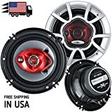 Pair of SoundXtreme 6' in 3-Way 350 Watts Coaxial Car Audio Speaker CEA Rated (2 Speakers)