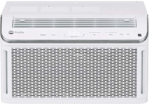 GE Profile Energy Star 6,150 BTU Smart Ultra Quiet Window Air Conditioner for Small Rooms up to 250 sq ft, White