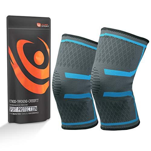 Etmury Kniebandage für Damen & Männer, Zum Schutz von Meniskus & Knie, Elastische atmungsaktiv Knieschoner mit Kompression für mehr Stabilität beim Sport und im Alltag, Knieschützer