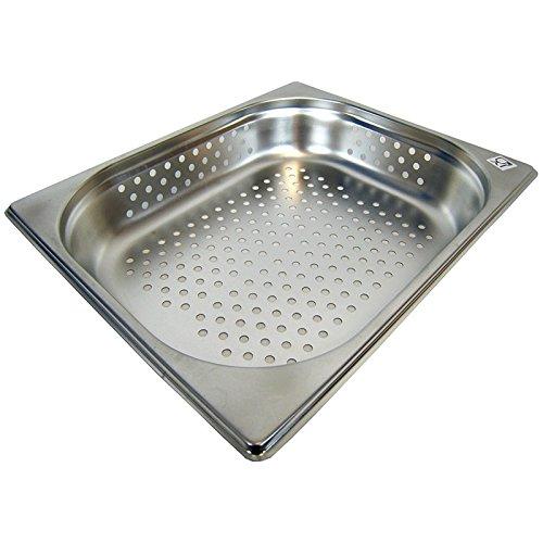GN 1/2 Gastronormbehälter GN-Behälter Edelstahl 4 Liter Tiefe 65mm GELOCHT
