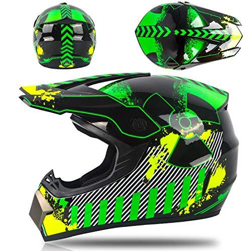 Motorhelm elektrische mountainbike off-road helm stoere kartcompetitie volledige helm veiligheidshelm-gif Licht, comfortabel en veilig helmet_XL