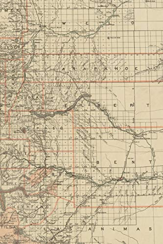 19th Century Map of the State of Colorado - A Poetose Notebook / Journal / Diary (50 pages/25 sheets) (Poetose Notebooks)