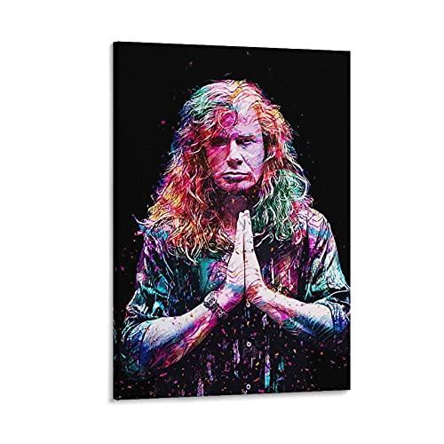 Megadeth Dave Mustaine - Póster de pared y póster moderno para dormitorio...