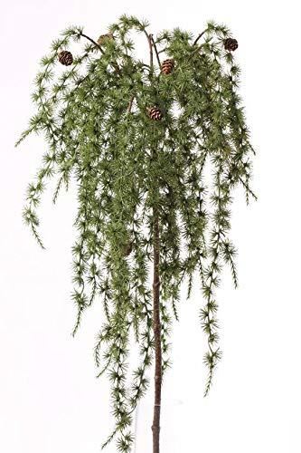 artplants.de Künstlicher Lärchenzweig FENNO, Zapfen, grün, 95cm - Winterdekoration - Künstlicher Zweig