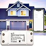Garage Door Smart WiFi Opener Controller, Open/Close The Garage Door Anytime Anywhere, Smart Phone APP Control Compatible with Alexa, Google Assistant & IFTTT