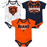 NFL Infant Playmaker 3 Piece Onesie Set-Deep Obsidian -18 Months, Chicago Bears