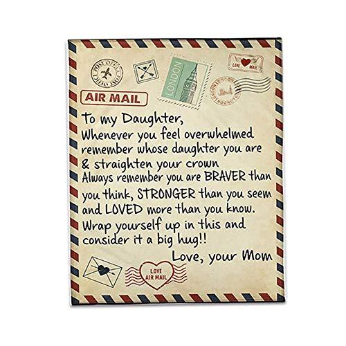 BOxinkk kuscheldecken flauschig günstig,Decke kuscheldecke,Geschenk für Tochter von Mama,wohndecken kuscheldecken,sofadecke Baumwolle Winter,Gewichtsdecke für Erwachsene und Kinder (150 * 130)