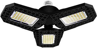 Yorten AC85-265V Deformable Garage Light LEDs Three-Leaf Fan Blade Bulb Ceiling Lamp E27/E26 Base Lighting Angle Adjustabl...