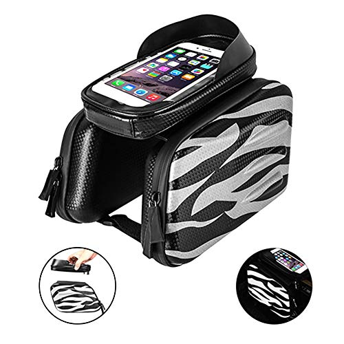Find Discount GXFWJD Black Bicycle Bags Waterproof Screen Touch Top Tube Phone Bag Front Frame MTB B...