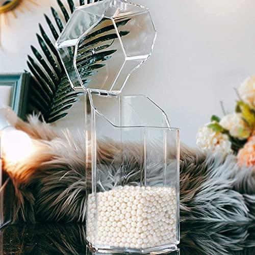 COSDDI Make up Pinselhalter Make up Aufbewahrung Kosmetik Organizer,Make Up Pinsel Halter mit weißen Perlen für Kommode, Schminktisch