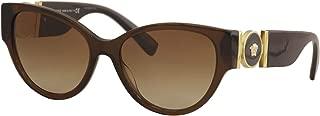 Versace Woman Sunglasses, Brown Lenses Acetate Frame, 56mm