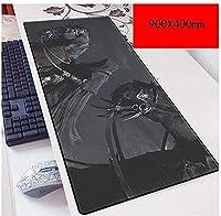 マウスパッドリングゲームスピードゲーミングマウスパッドXXLマウスパッド900 x 400mm大型3mm厚のベース完璧な精度 C
