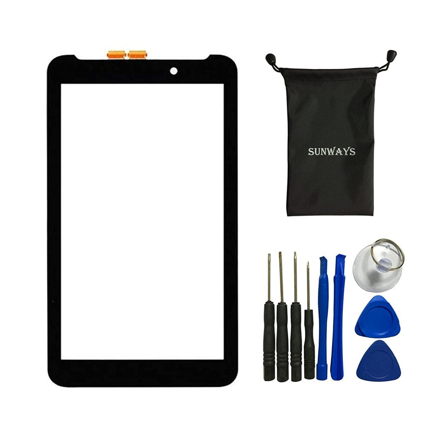 Sunways Touch Digitizer Glass Lens Screen Replacement for ASUS Fonepad 7 FE170CG ME170CG ME170C ME170 with Device Opening Tools