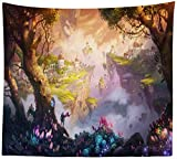 KHKJ Tapiz psicodélico para Colgar en la Pared, Tapiz de Seta, decoración de Pared, tapices para Dormitorio, Colegio, Dormitorio, decoración de habitación A1 95x73cm