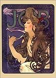 Poster 50 x 70 cm: Job, brünette von Alfons Mucha -