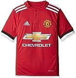 adidas MUFC H JSY Y Camiseta 1ª Equipación Manchester United 2017-2018, niños, Rojo (rojrea/Blanco/Negro), 164