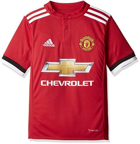 adidas Kinder MUFC H JSY Y Trikot, real red s10/White/Black, 176